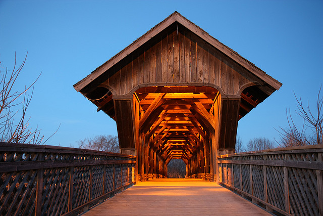 covered bridge  image